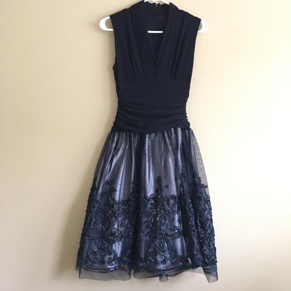 Macy's Dresses & Skirts - Vintage navy formal dress